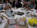 Photo of the Tim Holtz class at the April 2009 scrapbook convention in Stellenbosch
