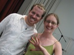 Photo of me with Tim Holtz at the April 2009 scrapbook convention in Stellenbosch