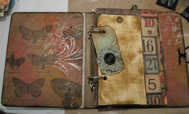 Inside cover of the Artful Journal by Tim Holtz
