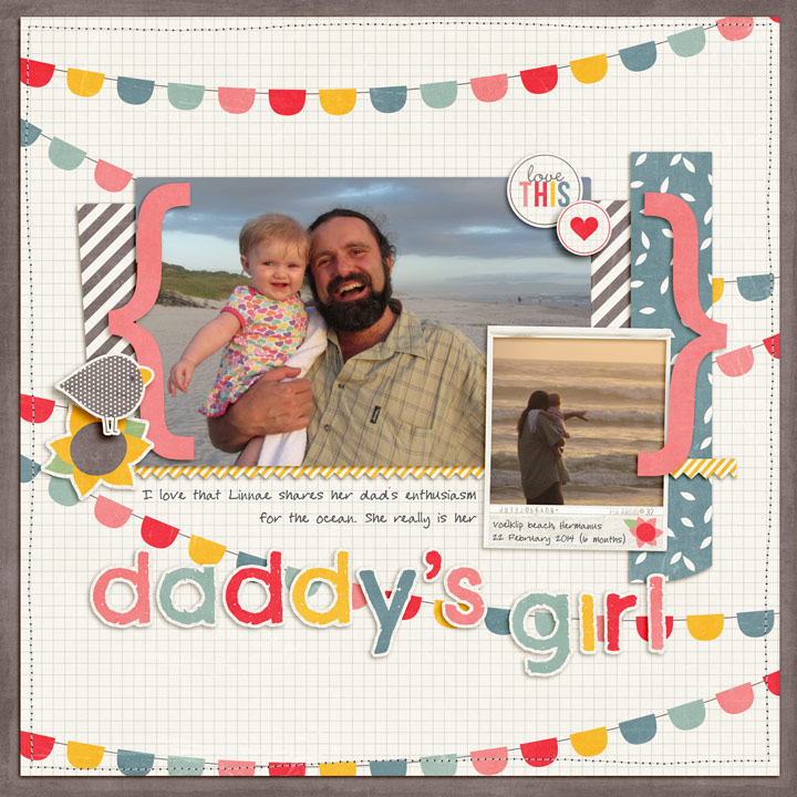 Digital scrapbook page titled Daddy's Girl