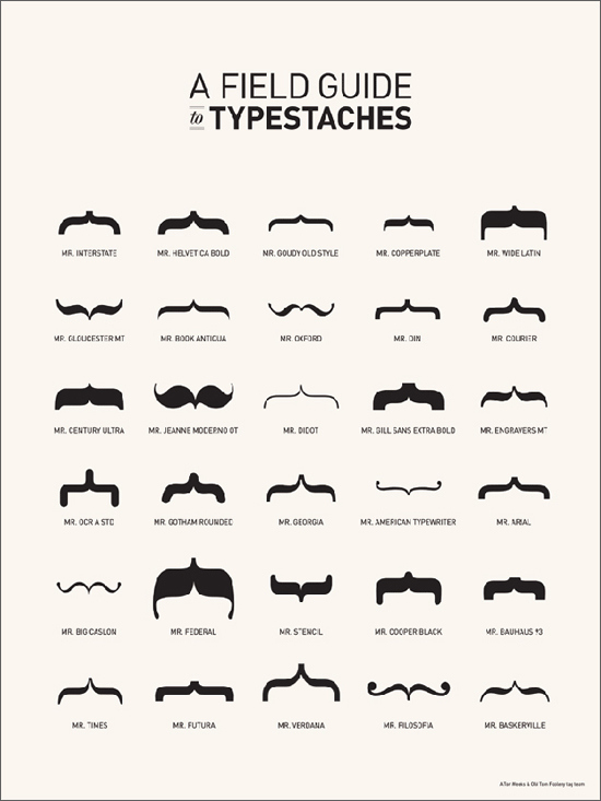 Typestaches by Tor Koluglu